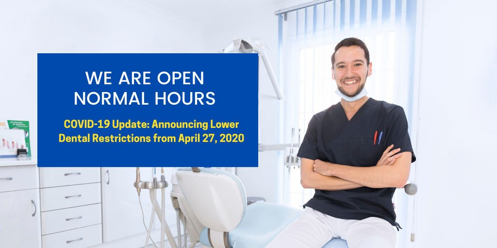 announcing eased dental restrictions from 27 april 2020 west ryde
